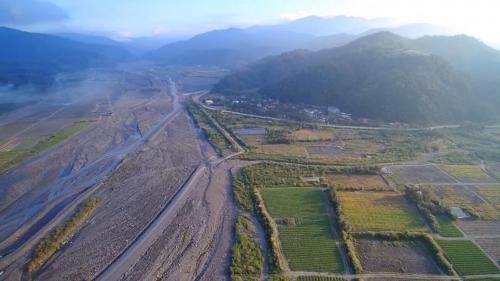蘭陽溪流域天埤電廠進水口來源的圓山電廠