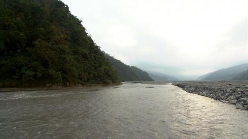 圓山電廠取水口附近之蘭陽溪