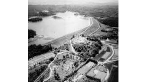 早期烏山頭水庫俯瞰圖1920-1930