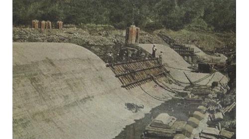 曾文水庫尾水導入烏山頭水庫堰堤及排砂閘門