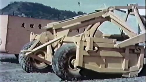 榮工處機械廠:廠內修復好的工程車輛
