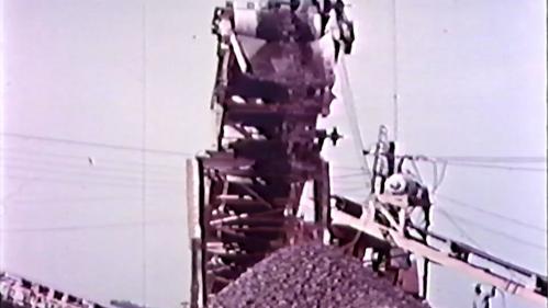 榮工處砂石廠:加工後的砂石