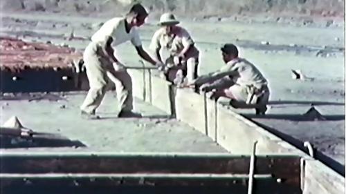 榮工處承建屏東機場擴建工程:架設模板