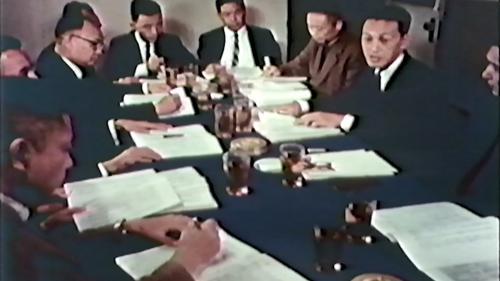 早期榮工處企業化管理開會畫面