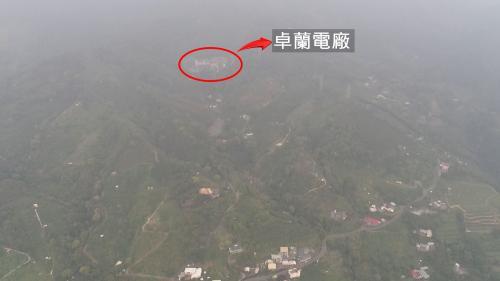 大安溪流域卓蘭電廠俯瞰圖