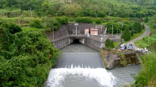 大安溪流域卓蘭電廠發電尾水出口