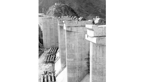石門電廠水源石門水庫建造舊照