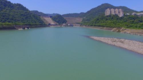 石門電廠與石門水庫遠眺