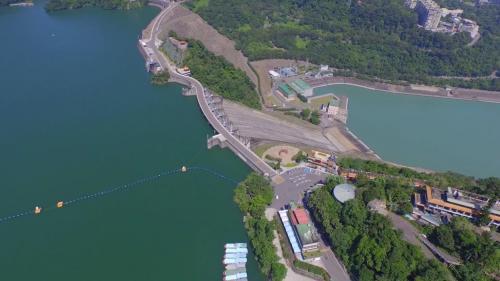 石門電廠及石門水庫俯瞰