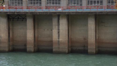 石門電廠發電尾水出