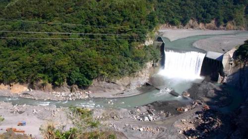 石門水庫集水區分期治理計畫第一期興建的巴陵壩
