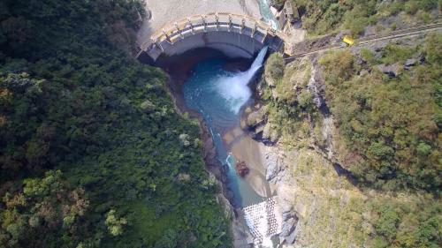 石門水庫上游榮華壩俯瞰