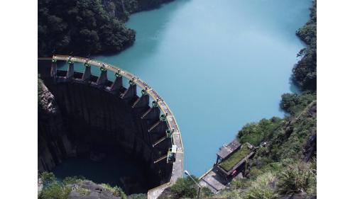 石門水庫上游榮華壩蓄水原貌