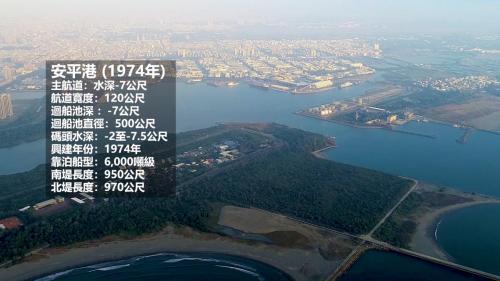 民國63年(1974年)因安平舊港封淤,政府另擇安平港南方2公里的「鯤鯓湖」營建新港,1979年峻工,同年新港開始營運,主航道水深負7.5m,可通行6,000噸級船舶,並核定為國內商港。