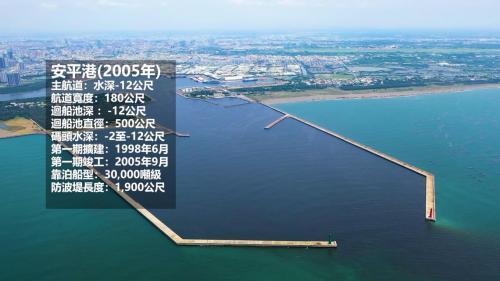 2005年擴建完成安平港 提升功能