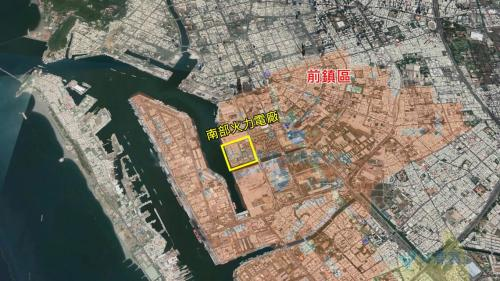 南部火力電廠位於高雄市前鎮區,廠區面積17.5公頃。