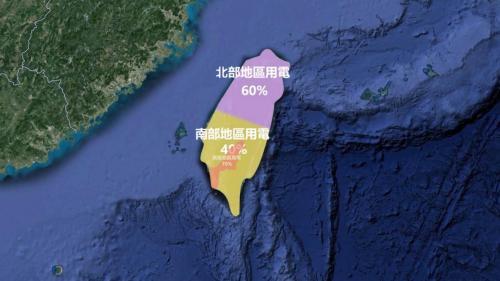 南台灣所需電力約佔全台用電量40%,其中的70%又幾乎供給了高雄地區。