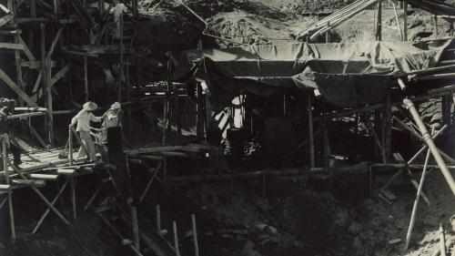 1953年底,南部火力電廠,兩部燃煤汽力機組的廠房開始動工。