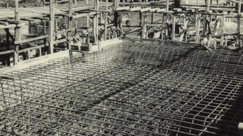 南部火力電廠建廠基礎施工-編紮鋼筋