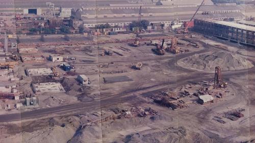 南部火力電廠新機組開始整地施工中(1992年)