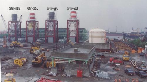 南部火力電廠興建中的一號及二號燃氣複循環機組