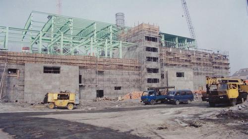 南部火力電廠興建中的複偱環機組