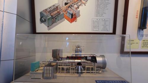 南部火力電廠電力展示館展示之複循環渦輪機模型