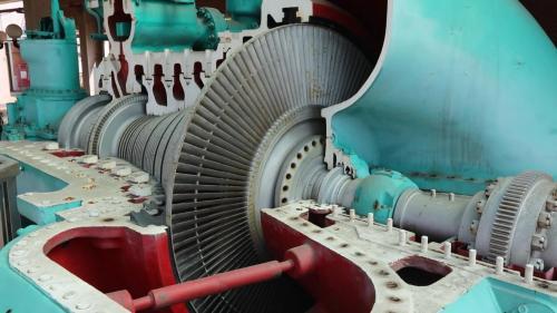 南部火力電廠電力展示館展示之北部火力發電廠蒸汽渦輪機