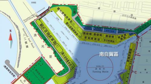 安平港:12號碼頭以南為自貿區