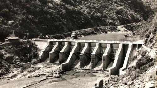 立霧溪流域完成後的溪畔壩