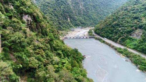 立霧溪流域溪畔壩俯瞰