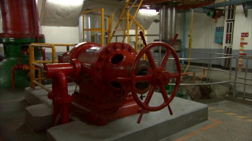 立霧溪流域立霧電廠內直立式發電機轉軸