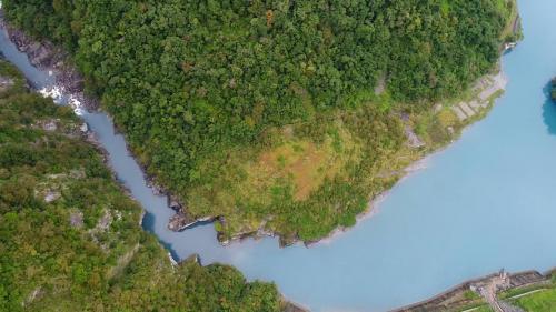 和平溪流域於南溪壩段上空俯瞰