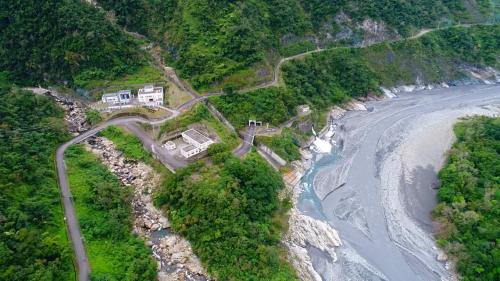 和平溪流域碧海電廠上空俯瞰