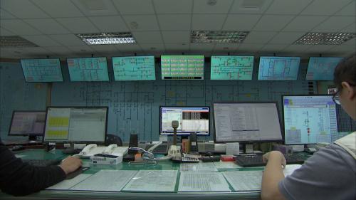木瓜溪流域東部電廠花蓮市區廠本部中控室
