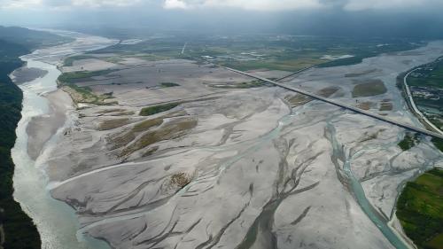 木瓜溪與花蓮溪合流處