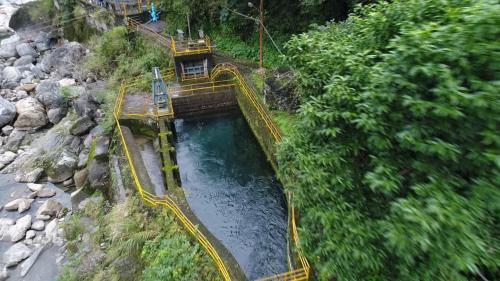 木瓜溪流域清二壩及清水電廠尾水合流的沉砂池