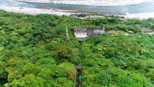 木瓜溪流域清流電廠與壓力鋼管