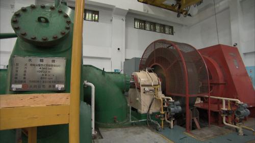 木瓜溪流清流電廠橫軸法蘭西斯式水輪發電機