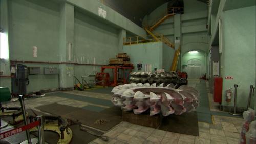 木瓜溪流域龍澗電廠機組機組大修設備分解