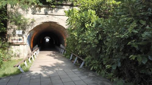 高雄港:旗后砲台下方隧道為了方便南防坡堤的興建,在旗后砲台下方開闢隧道以利工程進行,此隧道於戰爭時期同時也作為戰備之用,正是如今的星空隧道。