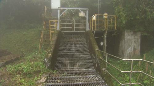 奇萊引水工程龍溪壩出水口