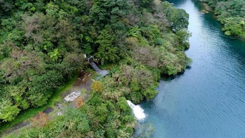 木瓜溪流域奇萊引水工程龍溪壩出水口