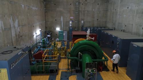 木瓜溪流域龍溪電廠水輪發電機組