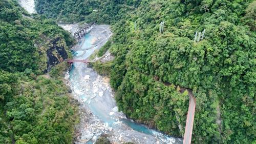 木瓜溪流域水簾電廠入口俯瞰