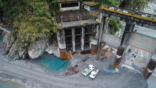 木瓜溪流域銅門電廠在水簾壩的頭水隧道取水口