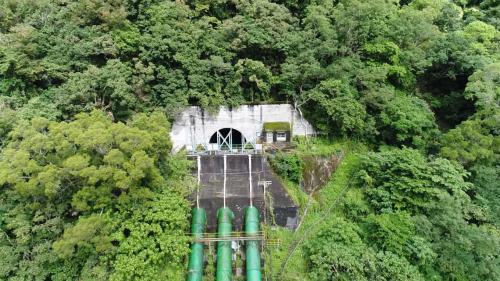 木瓜溪流域銅門電廠前池與壓力鋼管