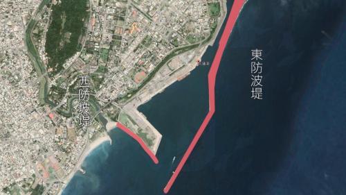 花蓮港是個人工港,由東、西防坡堤組成