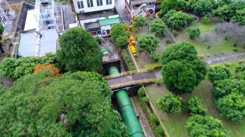 木瓜溪流域初英電廠壓力鋼管