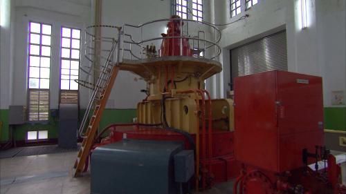 木瓜溪流域初英電廠發電機組
